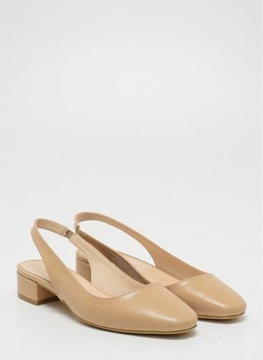 D by Divarese Kısa Topuklu Ayakkabı Ten